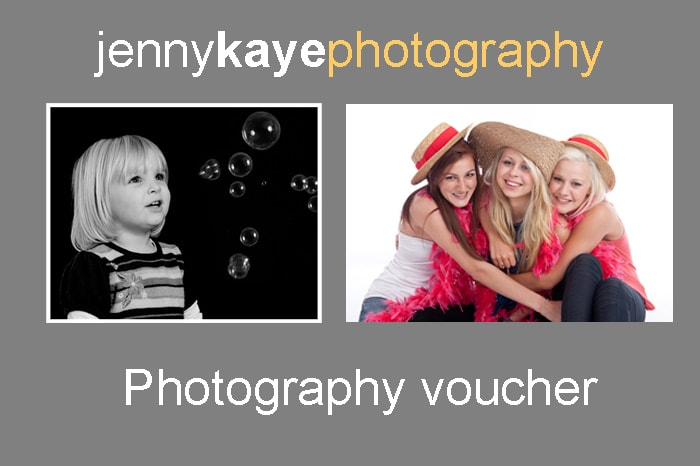 Photo session vouchers as presents