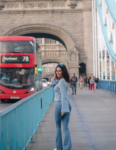 Tower Bridge fashion shoot