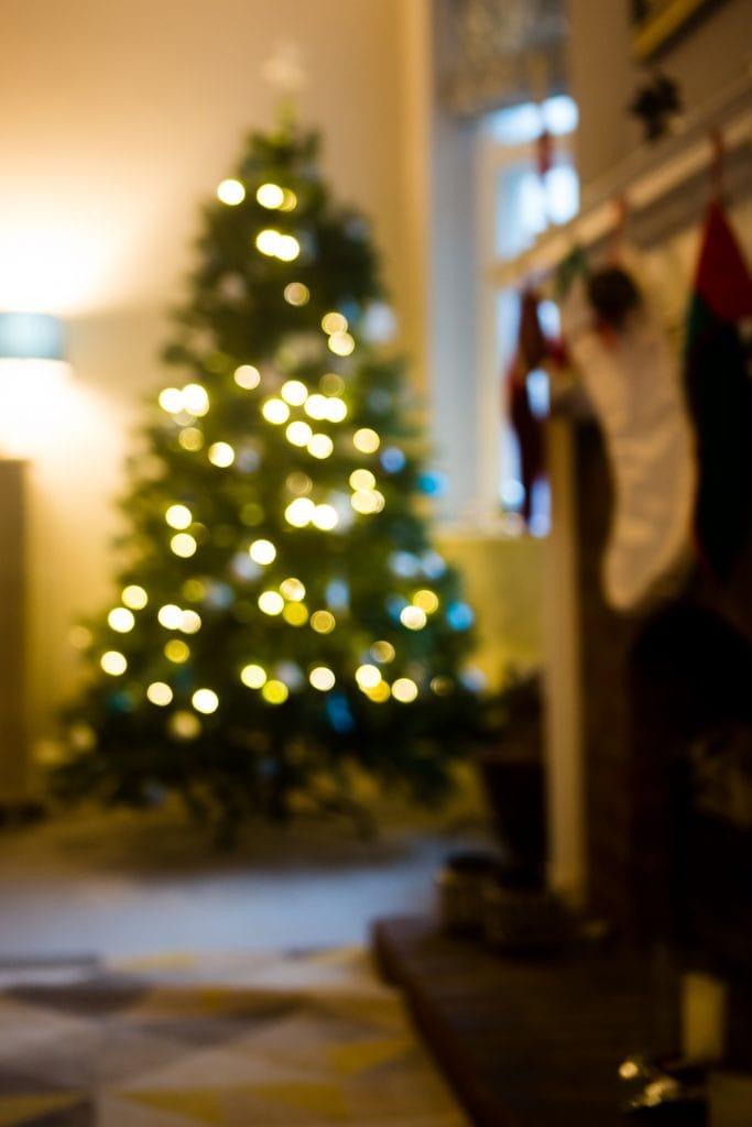 Christmas tree bokeh