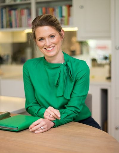 lady in green top personal branding